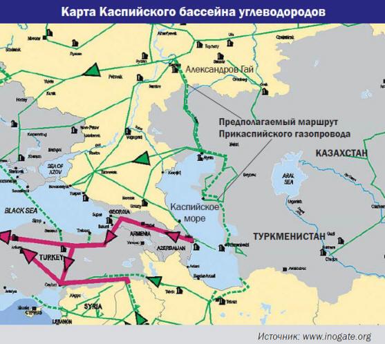 Казахстана и Туркменистана